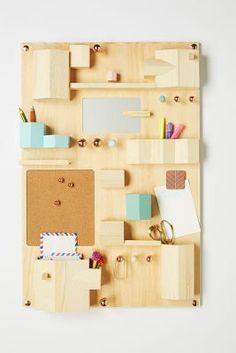 Wooden Hanging Desk Organizer