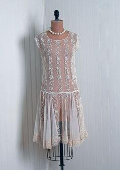 ec697e248902 1920 s white embroidered sheer dress (hva) 1920s Vintage Dresses