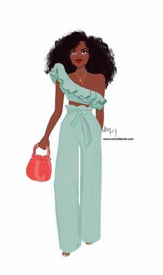 4 Factors to Consider when Shopping for African Fashion – Designer Fashion Tips Art Black Love, Black Girl Art, Black Girls Rock, Black Is Beautiful, Black Girl Magic, Art Girl, Art Afro Au Naturel, Look Fashion, Fashion Art