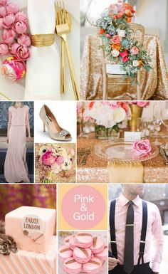 Pink and Gold Wedding Inspiration @Amber Wilson look at the table cloths!