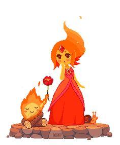 Gif Princesse Flammes