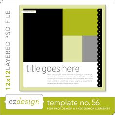 Cathy Zielske's Layered Template No. 056 - Digital Scrapbooking Templates