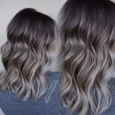 ash blonde balayage These tones tho! Grey Hair Wig, Brown Blonde Hair, Light Brunette Hair, Ash Brunette, Hair Color And Cut, Brown Hair Colors, Hair Colour, Hair Color Balayage, Hair Highlights