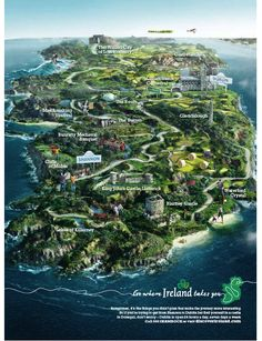 Map of Ireland... I can't wait to travel in a few years time, ESPECIALLY to Ireland!
