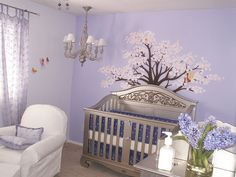 Lovely Lilac Nursery Featuring Bratt Decoru0027s Antique Silver Chelsea  Collection