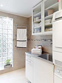 casa de campo diseño interior rustico actual -baño beige