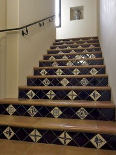 Tiled Stair Risers Design Ideas, Pictures, Remodel And Decor