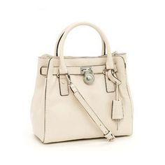 MICHAEL Michael Kors Medium Hamilton North-South Tote, Vanilla