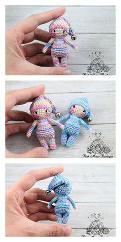 Amigurumi Small Christmas Elf Free Pattern – Free Amigurumi Patterns – My CMS Crochet Dolls Free Patterns, Christmas Crochet Patterns, Crochet Toys, Crochet Ornaments, Crochet Snowflakes, Crochet Christmas, Magic Ring Crochet, Crochet Pattern Free, Little Doll