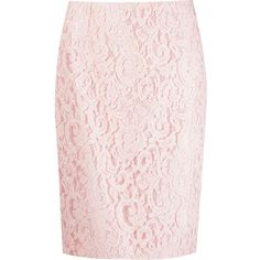 Martha Medeiros Marescot Lace Pencil Skirt (5,535 MYR) ❤ liked on Polyvore featuring skirts, pink skirt, lacy skirt, martha medeiros, pink pencil skirt and pencil skirt