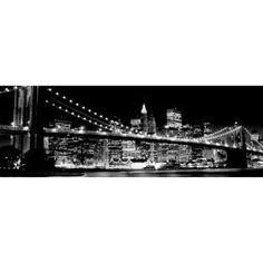 Black and White City Bridge