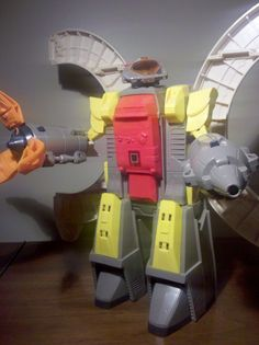 Transformers: Omega Supreme. This was the granddaddy of all Transformers for a long time! I never got him as a kid. I asked every Christmas and birthday for a couple of years to no avail. I picked this complete model up from a friend. It still walks and rolls! Just awesome!