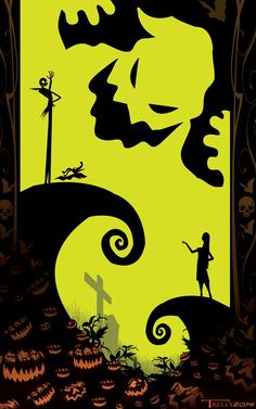 Sally, Oogie Boogie Silhouette | The Nightmare Before Christmas