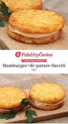 Hamburger di patate farciti