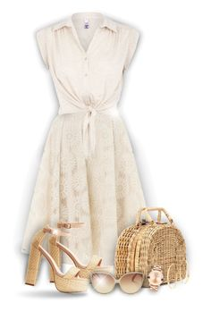 """""""Summer outfit!"""" by asia-12 ❤ liked on Polyvore featuring Somerset by Alice Temperley, H! by Henry Holland, Kayu, Charlotte Russe, Linda Farrow, Movado and Lana"""