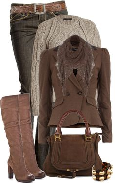 Very nice fall winter outfit, nice textures with the plain natural colors.