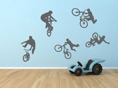 BMX Bikes Wall Sticker    Available in 2 Sizes:    Regular - 40cm x 60cm  Large - 60cm x 80cm    Our Wall Stickers are made from quality vinyl