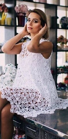 summer clothing, crochet dress, gift ideas ,  wedding gadget