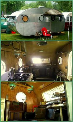 Campers & Caravans brought to you by Agents of at in Retro Caravan, Camper Caravan, Vintage Campers Trailers, Retro Campers, Vintage Caravans, Camper Trailers, Diy Camper, Chevy, Tin Can Tourist