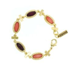 "Laundry by Shelli Segal Chic Color Block Delicate Gems Gold Tone Clasp Bracelet 1928 Jewelry. $48.00. 7""L x .4""W"