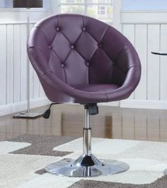 Amazon.com: Coaster 102581 Round-Back Swivel Chair, Purple: Home & Kitchen
