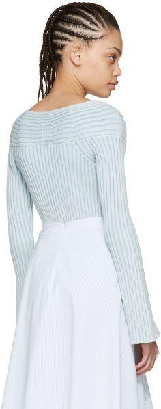 Sies Marjan - Blue Ribbed Chloe Sweater