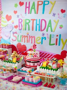 Summer's Peppa Pig Themed Party – Sweet Treats Spread