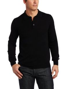 Perry Ellis Men's Button Polo Sweater