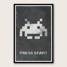 Space Invaders Retro Video Game Poster  Press by WestGraphics, $18.00