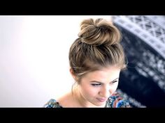 ▶ Messy Top Knot for Short Hair Tutorial - YouTube