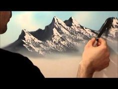 3 Easy steps to painting a MOUNTAIN with Acrylic Paint for the beginner step by step - YouTube