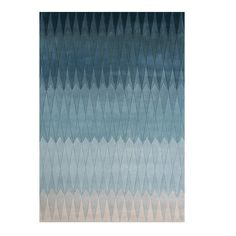 Linie Design Acacia Blue Rug | Patterned Rugs | Living Room | Heal's