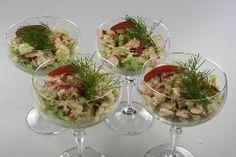 Avocado med krabbekød