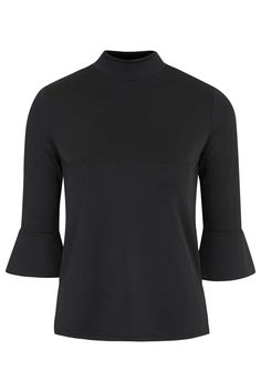 Flare Sleeve Funnel Neck Top - Topshop