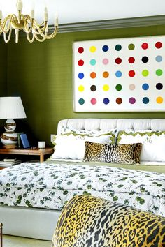 If you've already decided you want to spotlight green or you still need some convincing and inspiration, you're in the right place. We're showcasing designer green bedrooms that set the gold standard for decorating with this nature-inspired color. Keep reading to see how this versatile anchor color can transform just about any bedroom, no matter where it is—an estate, city apartment, or even a mountain chalet. Emerald Green Bedrooms, Bedroom Green, Master Bedroom, Bedroom Decor, Room Color Schemes, Room Colors, Bedroom Styles, Color Inspiration, Green Colors