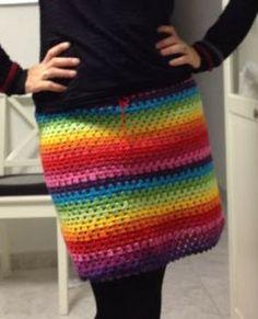 tamknitting: Tutorial Falda granny de crochet