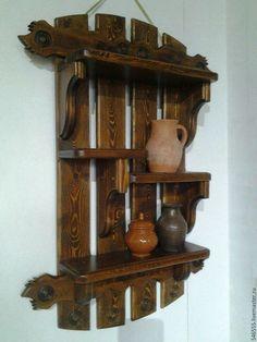 Мебель ручной работы. Ярмарка Мастеров - ручная работа. Купить Полка деревянная. Handmade. Полка настенная, полка под старину