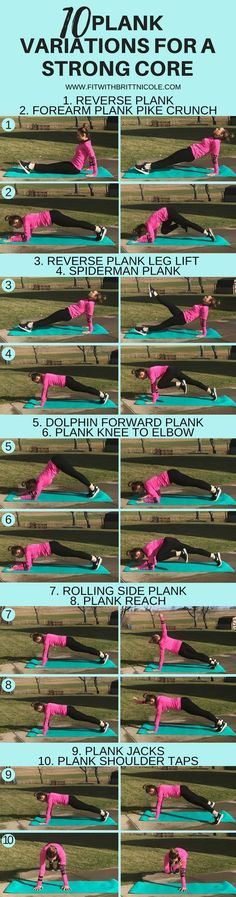 10 Plank Variations for a Stronger Core | Posted By: AdvancedWeightLossTips.com #Coreworkouts