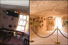 KSKM'de restore edilerek orijinal hâline getirilmiş farklı sergi salonları bulunmaktadır.  #kapadokya #uchisar #sanat #kskm #kültür #kültürmerkezi #seyahat #peribacasi #peribacalari #turkey #cappadocia #art #culture #travel #cave #holiday