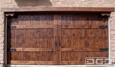 Dynamic Garage Door | Custom Architectural Garage Door : Mediterranean Revival Custom Garage Doors, Garage Door Hardware, Garage Door Design, Front Door Design, Front Door Paint Colors, Painted Front Doors, Modern Front Door, House Front Door, Garage Door Makeover