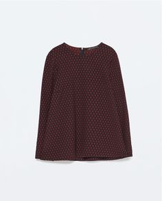 Image 8 of JACQUARD BABY DOLL TOP from Zara