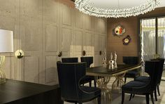 Not in an Office but would make a gorgeous Board Room - Dining area in Presidential Suite, The Alexander Hotel