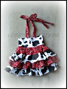 Giddy Up, Western, Cow Girl  Ruffle Dress size NB 3  6 9 12 24 months, size 2 3 4 5 on Etsy, $41.99