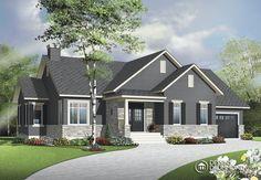 Plan modèle plain-pied - Maisons Laprise - Maisons pré-usinées - Modèle #W3133-V1