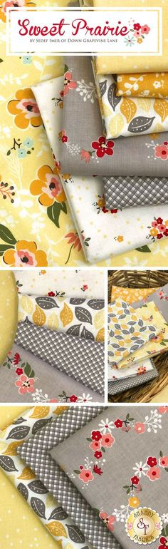 Sweet Prairie is a darling floral collection by Sedef Imer for Riley Blake Designs available at Shabby Fabrics
