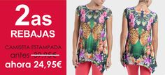 Camiseta ► http://www.puntroma.com/es/butterflies-print-t-shirt-with-strass-44937.html?p=3
