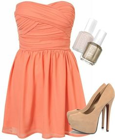 Doubt this would work well with my skin tone..but I love the shape of the dress.