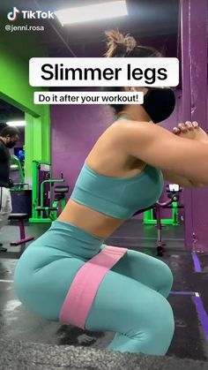 Lower body resistance band workout #lowerbodyworkout #legday #exercisefitness Full Body Gym Workout, Slim Waist Workout, Gym Workout Videos, Gym Workout For Beginners, Fitness Workout For Women, Butt Workout, Easy Workouts, Gym Leg Workouts, Toned Legs Workout
