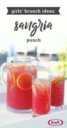Sangria Punch – Add a refreshing chill to your girlfriend get-together with this delightful Sangria Punch recipe! This fruity cranberry-citrus creation has no alcohol, so the whole group can enjoy it. Plus, this drink idea is the perfect Galentine's Day drink!