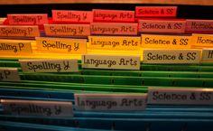 Ladybug's Teacher Files: Daily Materials Organization